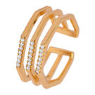 Simaya brings CZ Designer Gold Plated Ring (FR 0044)