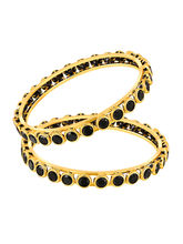 Mahi daily wear Gold Plated Ingenious Fashion Bangles with CZ for Women BA1105042G, 2.8