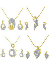 Shriya Shriya Combos Of 4 Pendant Sets