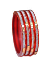 Ratnakar Set Of 4 Vibrent Red Bangles, 26