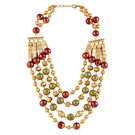 Go Bold Multi And Gold Colored 4-Cord Thea Necklace (A05947)