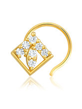 Mahi Gold Plated Nose Pin for Women NR1100126G