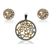 Raindrops Floral Earrings and Pendant Set