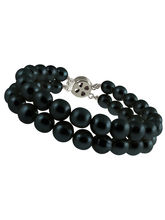 JPEARLS Fashion Black Dual String Bracelet