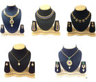 Shriya Traditional Designer Gold Plated Necklace And Pendant Combo Set