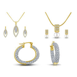 Shriya Daily Wear Beautiful Gold Plated Pendant Set Combos