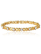 Mahi Daily Wear Fashion Gold Plated Twist & Shine Bracelet of brass alloy with Crystal for Women BR1100126G