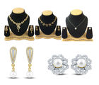 Shriya Shriya Gold Plated Austrian Diamond Combos Set