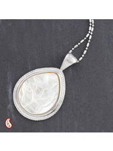 Tear Drop Embossed Shell Necklace
