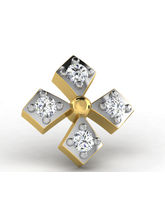 Sparkles 0.03ct Diamond Nosepin in 18 Kt Gold & Real Diamonds