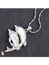 Twin Dolphin Shell Necklace