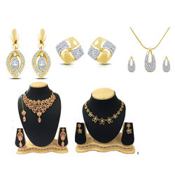 Shriya Beautiful Austrian Diamond Combos Of Necklace With Maang Tikka And Earrings Set