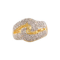 Shriya Wear Your Shine Jewels 18K Gold Plated And Austrian Diamon Ring