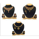 Shriya Beautiful Austrian Diamond Necklace Set Combos With Maang Tikka