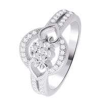 Simaya brings CZ Designer Rhodium Plated Ring (FR 0080)