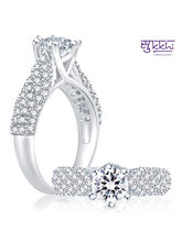 Sukkhi Cluster Rhodium Plated CZ Ring, 13
