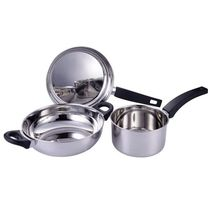 Fabiano 3 Pc Cookware Set, silver