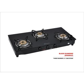 Advanta Premium Sparkle Glass Gas Cooktop (3 Burner)
