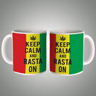 Keep Calm And Rasta On Mug, multicolor