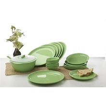 Signoraware 21 Pcs Round Dinner Set, multicolor