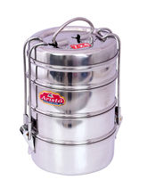 Aristo Lunch Box 4 Stainless Steel Container Tiffin Set, silver