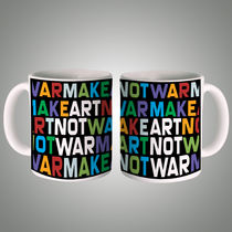 Make Art Not War Mug, multicolor