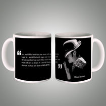 Posterboy Michael jackson quote wh Mug, multicolor