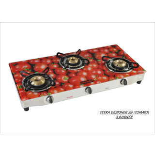 Advanta Premium SS Tomato 3 Burner Auto Ignition Gas Cooktop