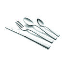 Shapes Gracia Cutlery set of Spoons & Forks 24 Pcs set with Wooden Box,  silver