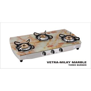 Advanta Premium Marble AI 3 Burner Gas Cooktop