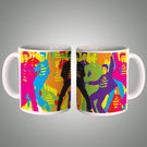 Elvis Presley Pop Art Mug, multicolor