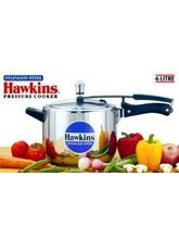 Hawkins Induction Based Stainless Steel Pressure Cooker - 6L (Silver, 6 Ltr)