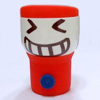 Its Our Studio Button Smiley Mug Red Silicon Lid,  red