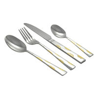 Shapes Arena Cutlery set of Spoons & Forks 24 Pcs set with Wooden Box,  silver