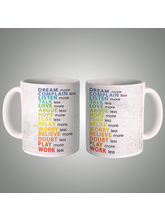 Dream More Mug, multicolor