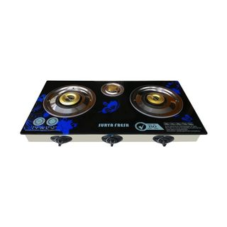 Surya Fresh Butterfly 3 Burner Auto Ignition Gas Cooktop