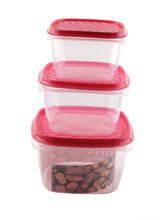 Unilite 3 Pcs Red Containers Set, red