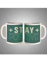 Stay Positive Mug, multicolor
