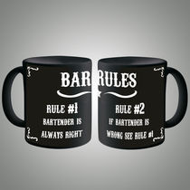 Bar Rules Mug, multicolor