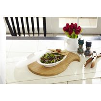 Signoraware Oval Server With Cover, multicolor
