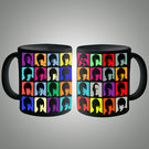 Beatles Pop Art Bk Mug, multicolor
