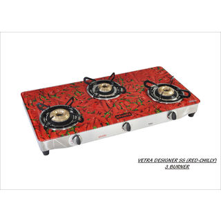 Advanta Premium Chilly 3 Burner Auto Ignition Gas Cooktop