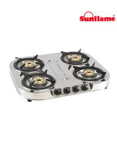 Sunflame Shakti Star 4 Burner Cook Top (Silver)