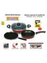Padmini Essential Cookplus Induction and Gas stove Cookware Set (Multicolor)