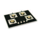 Padmini 4 Burner Hobs CS-403 GL-IB SQ DT,  black