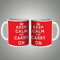 Keep Calm And Carry On Mug, multicolor