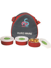 Zolo 3 pcs lunch Box, red