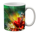meSleep Flower Mug, black