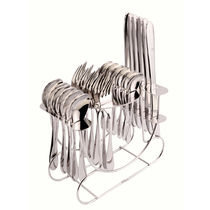 Shapes Cosmic 24 Pcs. Cutlery Set with R. stand (DK),  silver