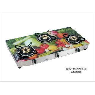 Advanta Premium Veg AI 3 Burner Gas Cooktop